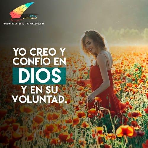 Mujer cree en dios, frases cristianas