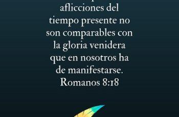 Los sufrimientos de esta vida no se comparan con la gloria de Dios