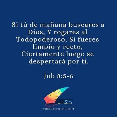 Si tú de mañana buscares a Dios.