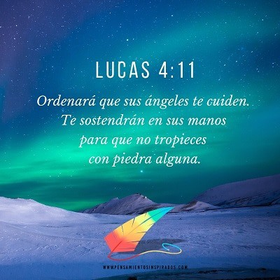 Ordenará que sus ángeles te cuiden. Te sostendrán en sus manos para que no tropieces con piedra alguna.