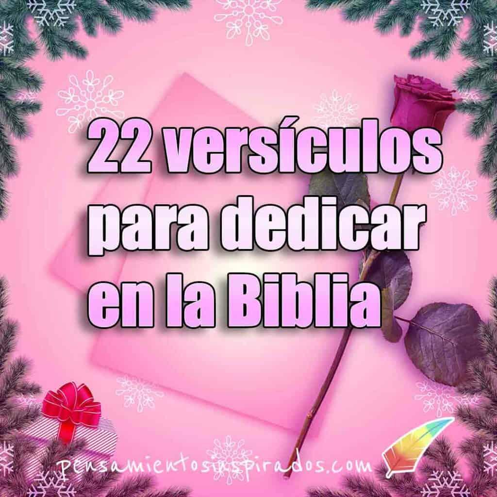Versículos para dedicar en la Biblia